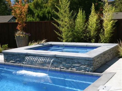 pools with spas royal spillover spa hot tub viking fiberglass pools