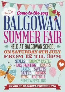 summer fair flyer template balgowan summer fair 6th july balgowan primary school