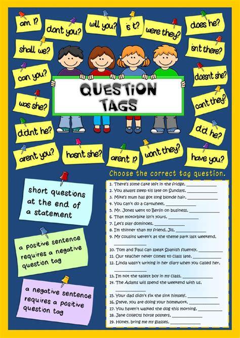 Open Sans Light Question Tags Worksheet