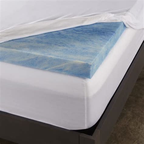 Memory Foam Mattress Cover by 2 5 Inch Gel Memory Foam Mattress Topper Sleep Innovations