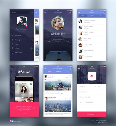 ios app design kit dribbble ios ui kit preview png by adrian chiran