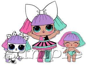 Lol Suprise Doll Series 1 Pranksta iron on transfer lol doll dolls pranksta lil pet pets lil ebay