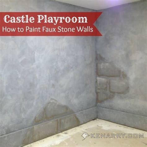 how to faux paint a wall castle playroom walls how to paint faux stone walls