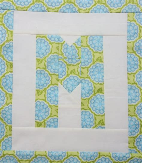 M S Quilts by Easy As Abc Qal Letter M Blossom Quilts