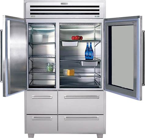 Sub Zero Refrigerator Glass Door Sub Zero 648prog 48 Quot Built In Side By Side Refrigerator Classic Stainless With Glass Door