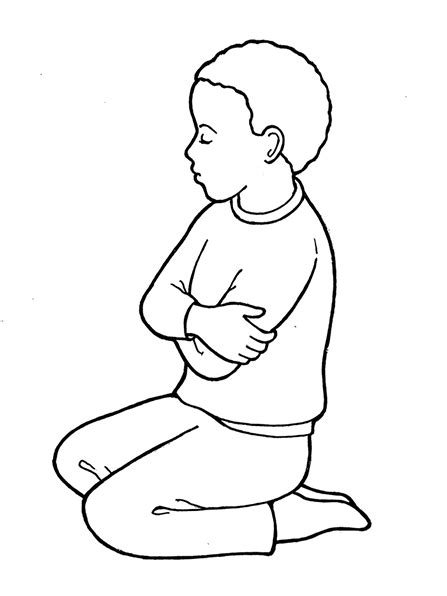 lds coloring pages praying image gallery lds clip art prayer
