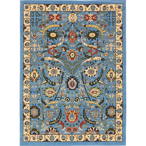 10 X 10 Ft Area Rugs - unique loom isfahan blue 7 ft x 10 ft area rug 3137507