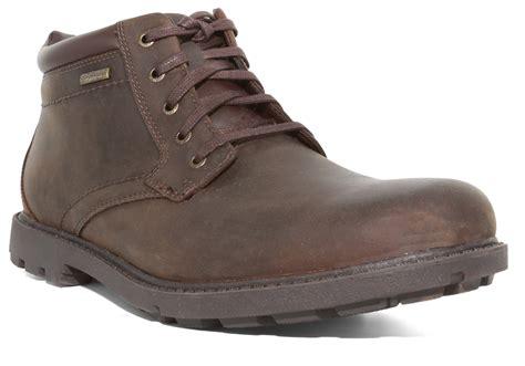 rockport boots mens waterproof mens rockport waterproof plain toe boot brown