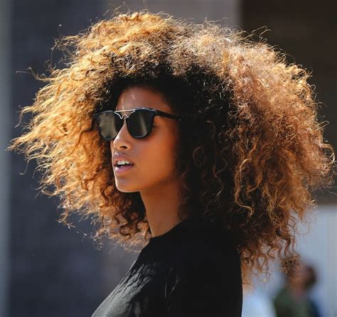 short curly hair model spotted imaan hammam fashion s eternal fresh face trace