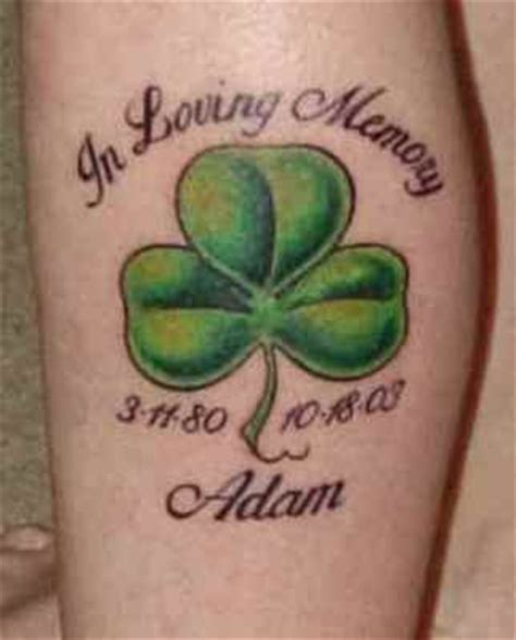 memorial shamrock tattoo