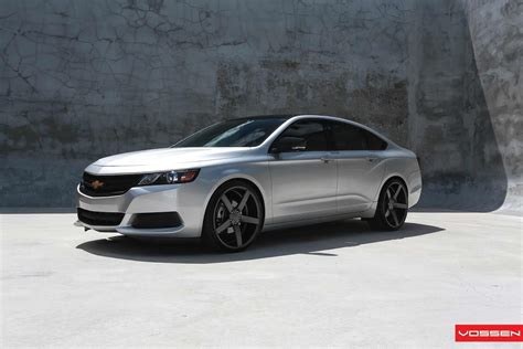 chevrolet wheels 2014 chevy impala sits well on big vossen wheels carscoops
