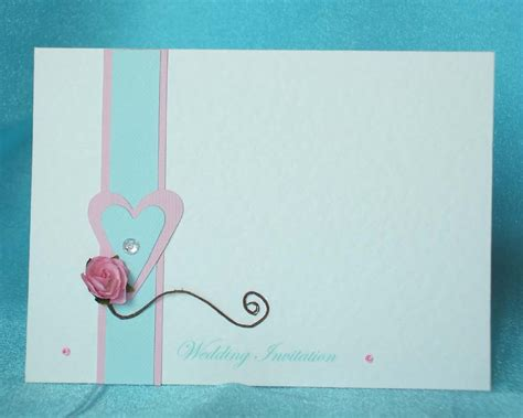 Less Expensive But Gorgeous Blank Wedding Invitations Blank Invitation Cards Templates Blue