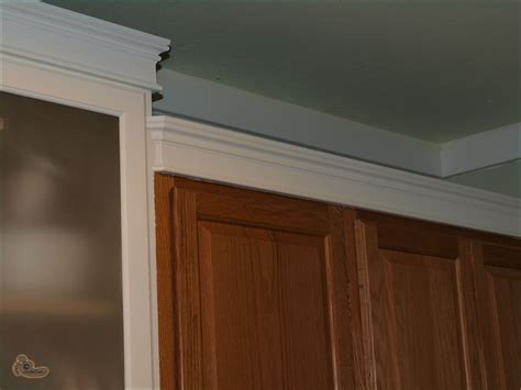kitchen cabinet trim installation how to put crown molding above cabinets home fatare