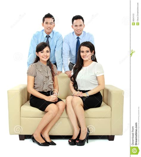 the couch people business people sitting on the couch stock photo image