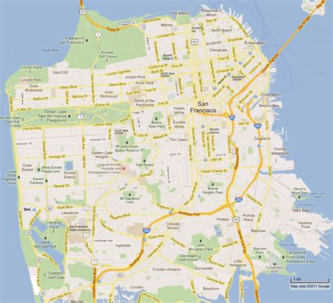 california map of san francisco san francisco map