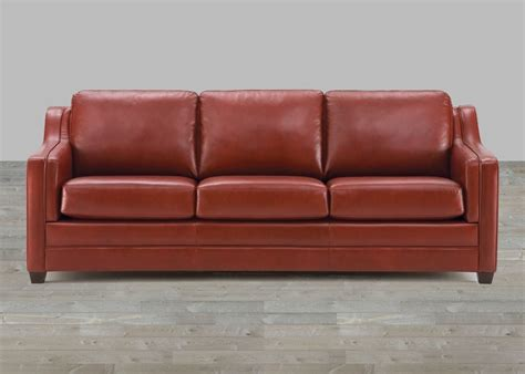 brown top grain leather sofa
