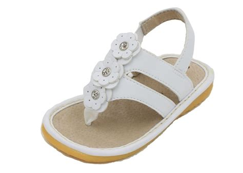 toddler sandals size 4 white flower toddler squeaky sandals shoes