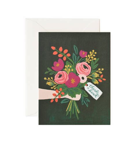 Paper Greeting Cards - thanks a bunch greeting card by rifle paper co made in usa