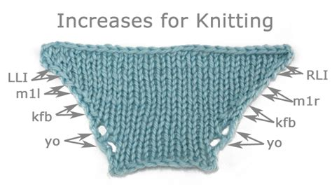 increase knitting how to knit neutral and directional increases brand