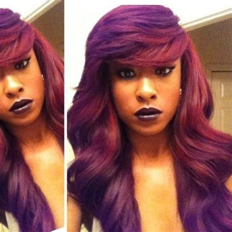 sew in weave purple to pink sew in pink purple sew in hair color pinterest beautiful