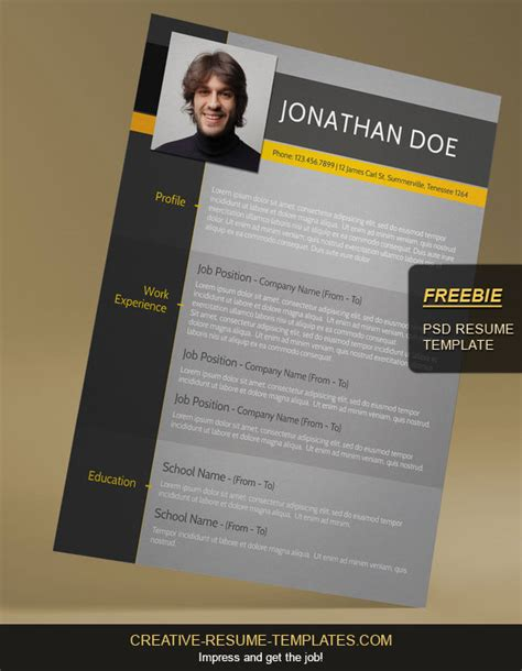 free downloadable creative resume templates free modern cv template