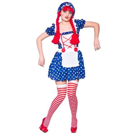 m s small rag doll womens rag doll costume for circus clown fancy