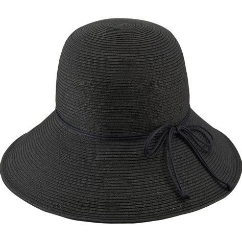 uniqlo black floppy hat lyst