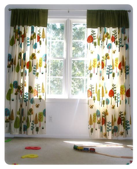 fun curtains fun colorful curtains for a kids playroom home designs
