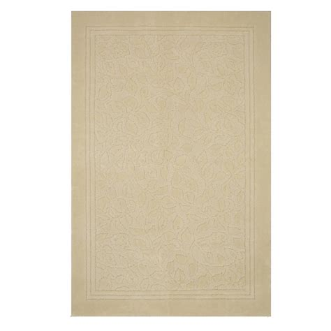 Mohawk Home Bath Rugs Mohawk Home Wellington 30 In X 50 In Bath Rug In Ivory 343612 The Home Depot