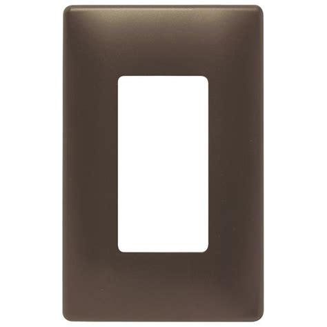 Shop Pass Seymour Legrand Trademaster 1 Gang Dark Bronze Decorator Wall Plates