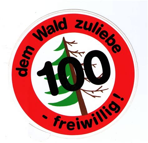 Aufkleber Drucken Osnabr Ck by Tempo 100 Dem Wald Zuliebe K43 Packpapierverlag Osnabr 252 Ck