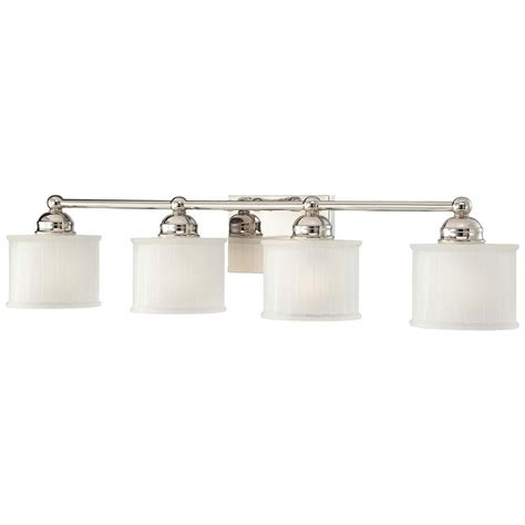 Minka Lavery Bathroom Lighting Minka Lavery 4 Light Polished Nickel Bath Light 6734 1 613 The Home Depot