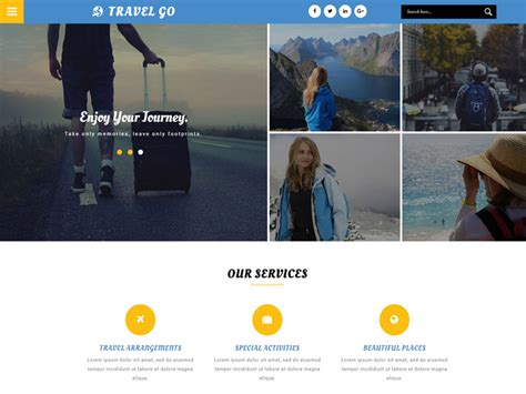 bootstrap templates for travel free download travel go free bootstrap travel template freemium download