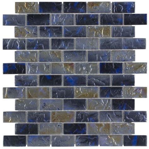 Iridescent Pool Glass Tile Volcano 1x2   Mineral Tiles