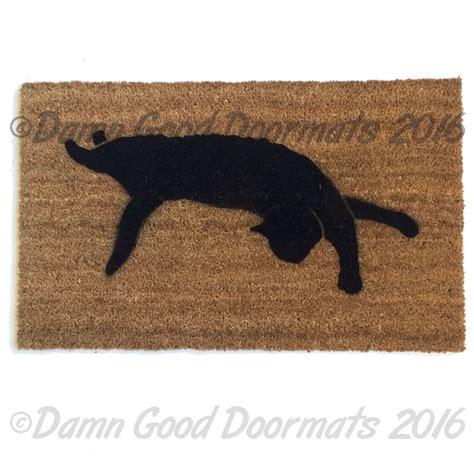 Cat Doormats by Witch Familiar Black Cat Silhouette Doormat