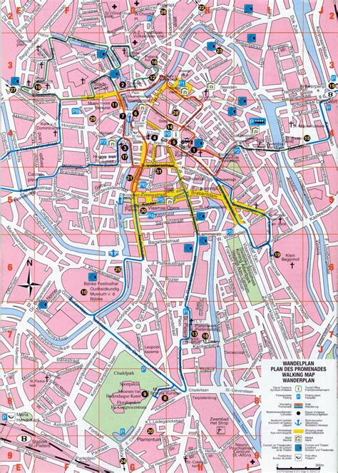 printable street map bruges brugge tourist map bruges maps top tourist attractions