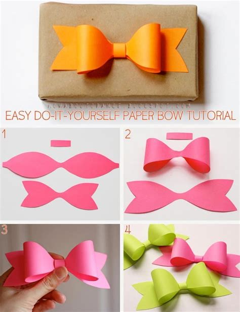 Easy Diy Paper Crafts - diy paper bow pictures photos and images for