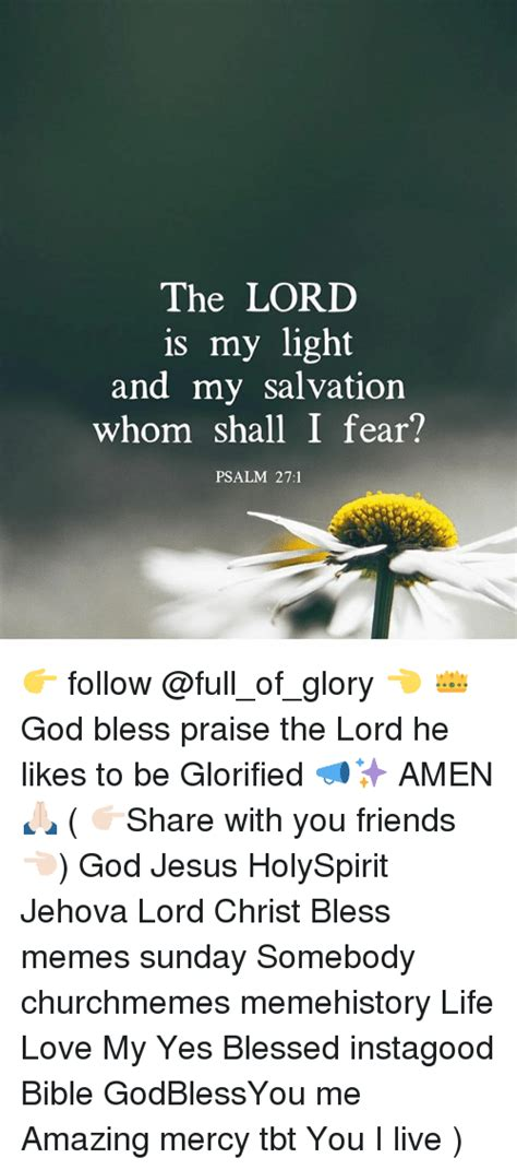 the lord is my light and my salvation the lord is my light and my salvation whom shall i fear