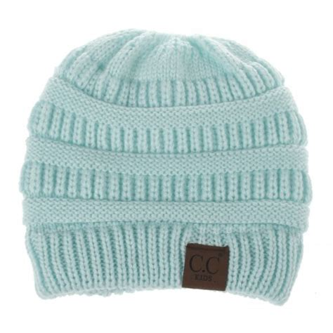 knitting letters into a hat cc letter ponytail cap knitting hat for baby blue