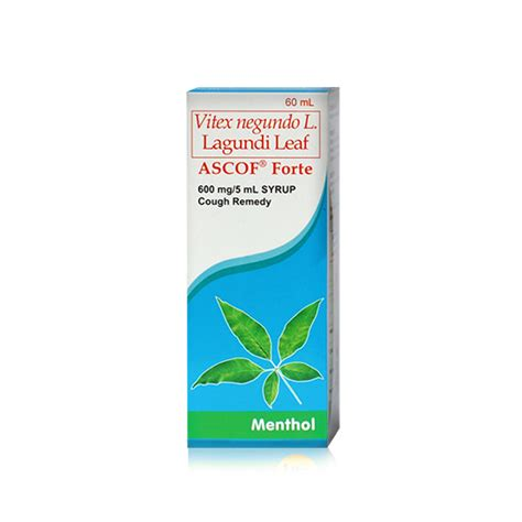 Proris Forte 60 Ml ascof forte menthol 600mg syrup 60ml pharmacy