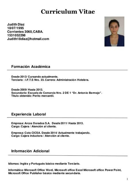 Modelo De Curriculum Vitae Trabajo Search Results For Currculum Vitae Espaol Calendar 2015
