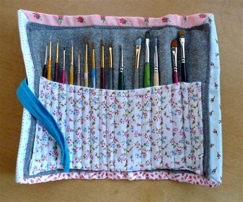 pattern for paint brush holder diy paint brush holder trying this for my make up