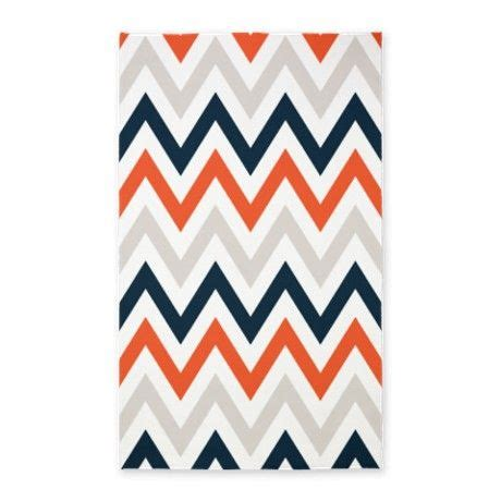 Navy And Orange Rug by Orange Gray Navy Chevrons 3 X5 Area Rug On