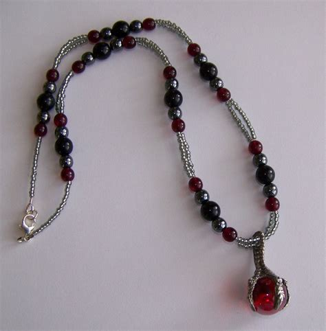 mens beaded jewelry designs pewter claw s pendant necklace handmade beaded