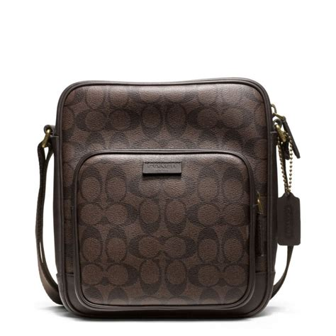 Coach Mahoganny And Flight Bag For coach bleecker signature flight bag in brown for b4 mahogany brown lyst