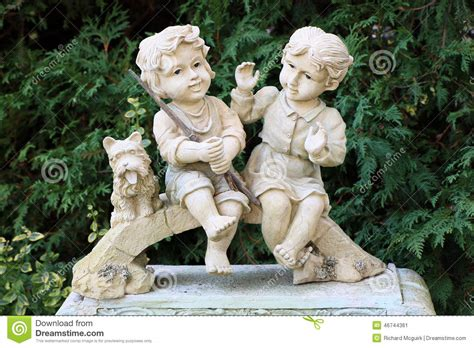little girl sitting on bench statue figurines stock image image of stone sculpture love