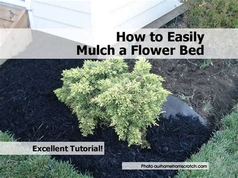 how to easily mulch a flower bed