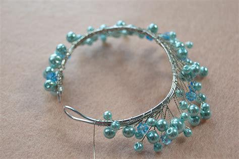 how to make bead earrings at home easy tutorial on pearl and wire wrapped bracelet