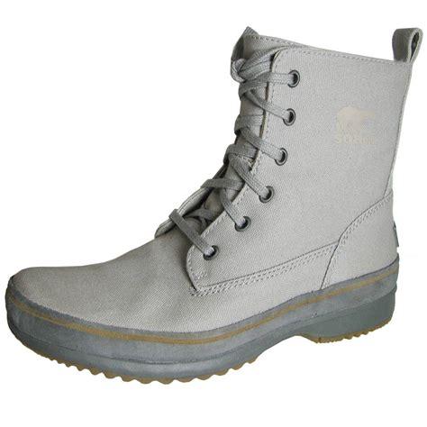 mens canvas boots sorel mens woodbine surplus canvas utility boot
