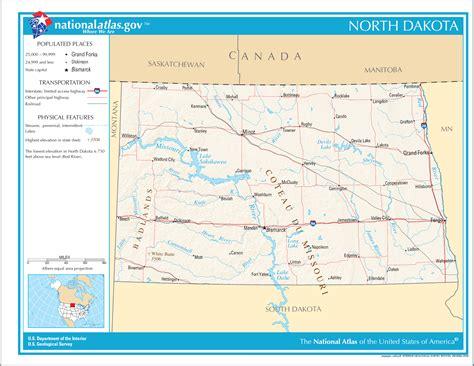 road map dakota usa map of dakota map worldofmaps net